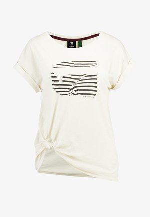 GRAPHIC 23 CAPER KNOTTED - Print T-shirt - milk