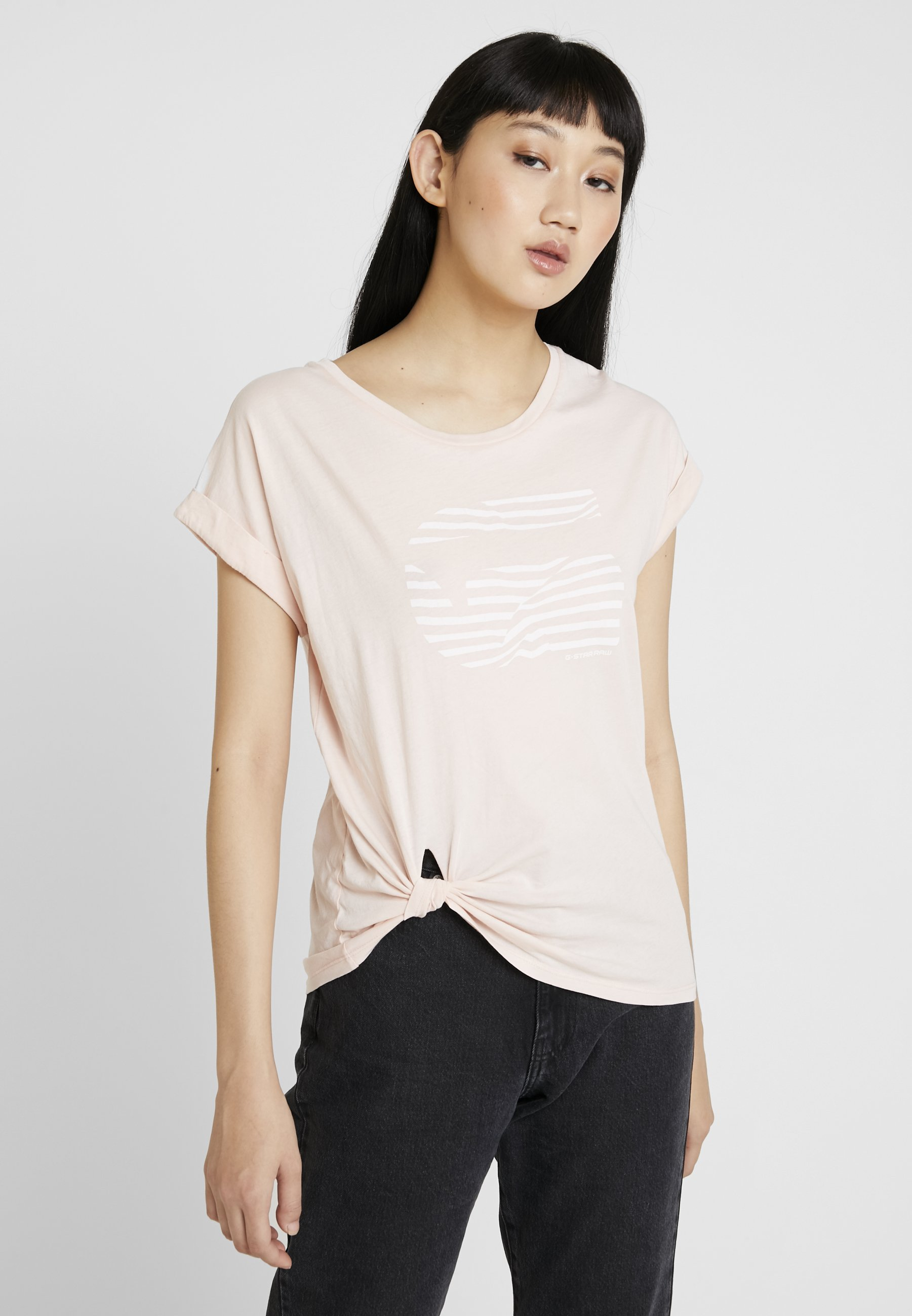 G-Star GRAPHIC 23 CAPER KNOTTED - T-shirts med print - rose