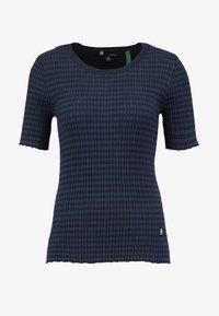 G-Star - SILBER R KNIT WMN S\S - T-shirt med print - dark saru/blue - 3