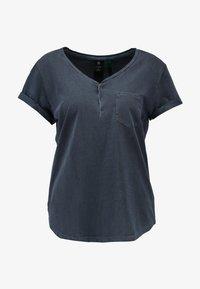 G-Star - RIE GRANDDAD PKT T WMN S/S - Print T-shirt - mazarine blue - 4