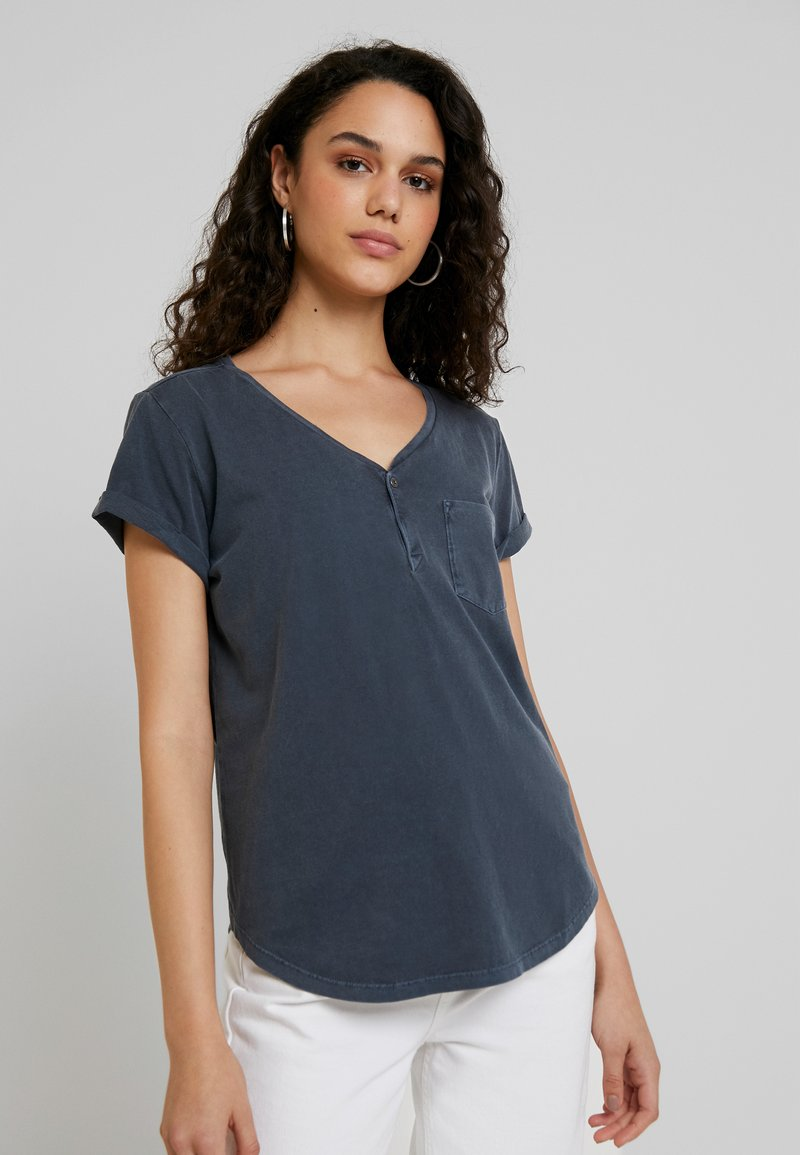 G-Star - RIE GRANDDAD PKT T WMN S/S - T-shirts print - mazarine blue