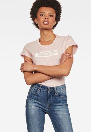 GRAPHIC LOGO SLIM - T-shirt print - pink