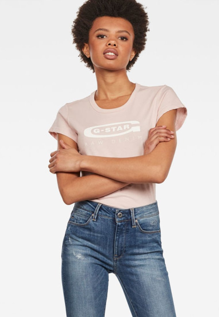 G-Star - Graphic Logo Slim - T-Shirt print - pink