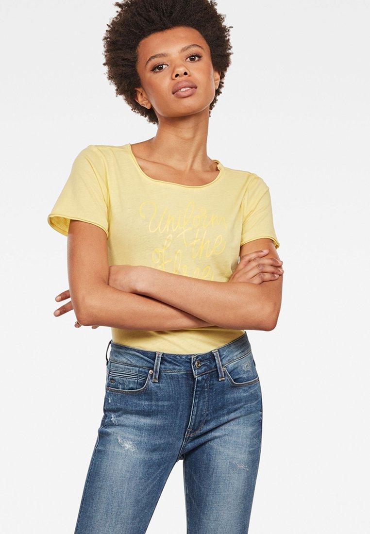 G-Star - Graphic LogoMysid Slim - T-shirt imprimé - lemonade