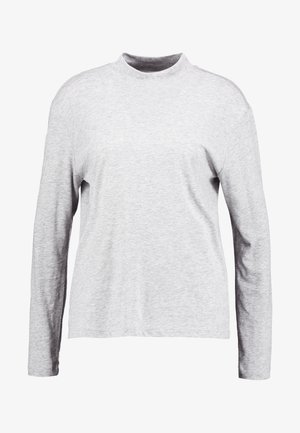 LOOSE FUNNEL - Long sleeved top - grey heather
