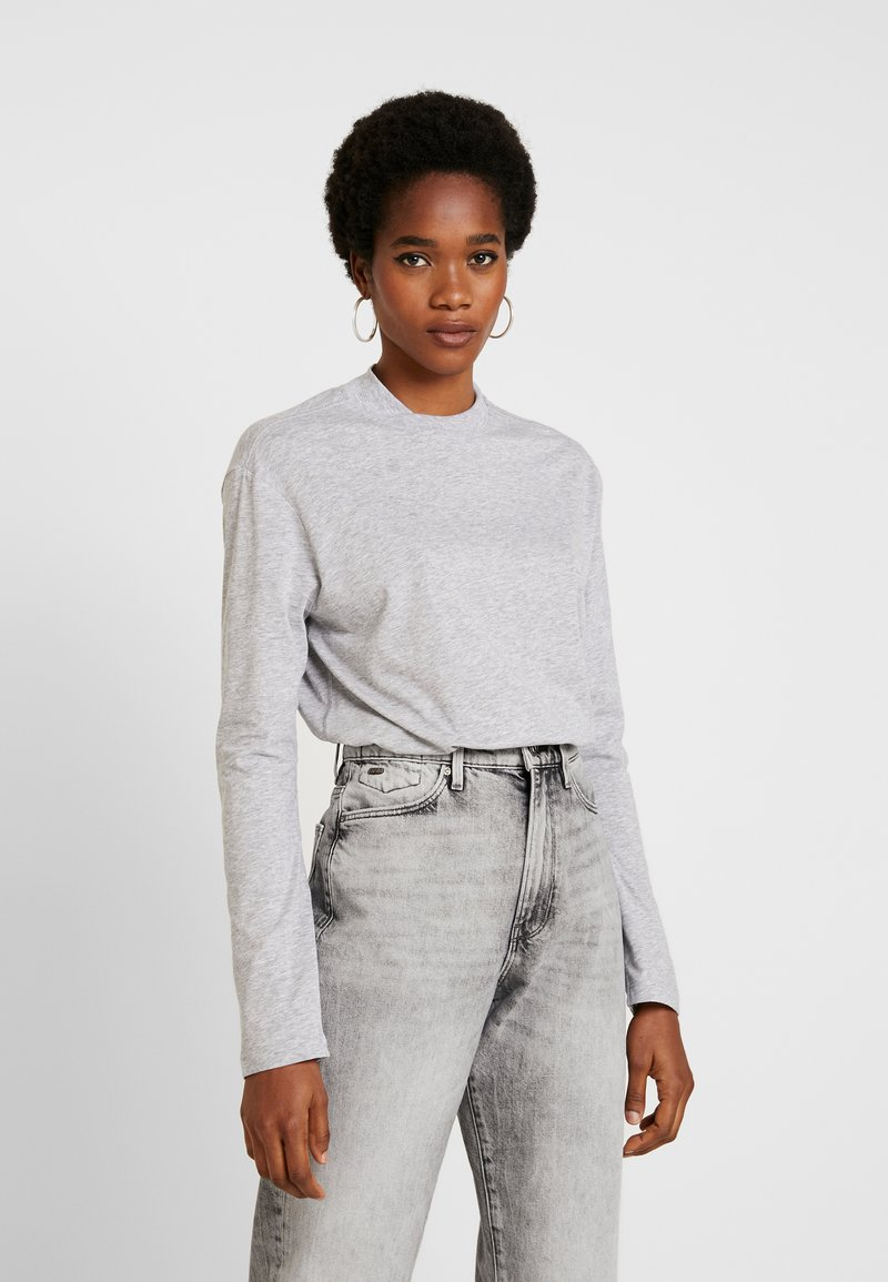G-Star - LOOSE FUNNEL - Long sleeved top - grey heather