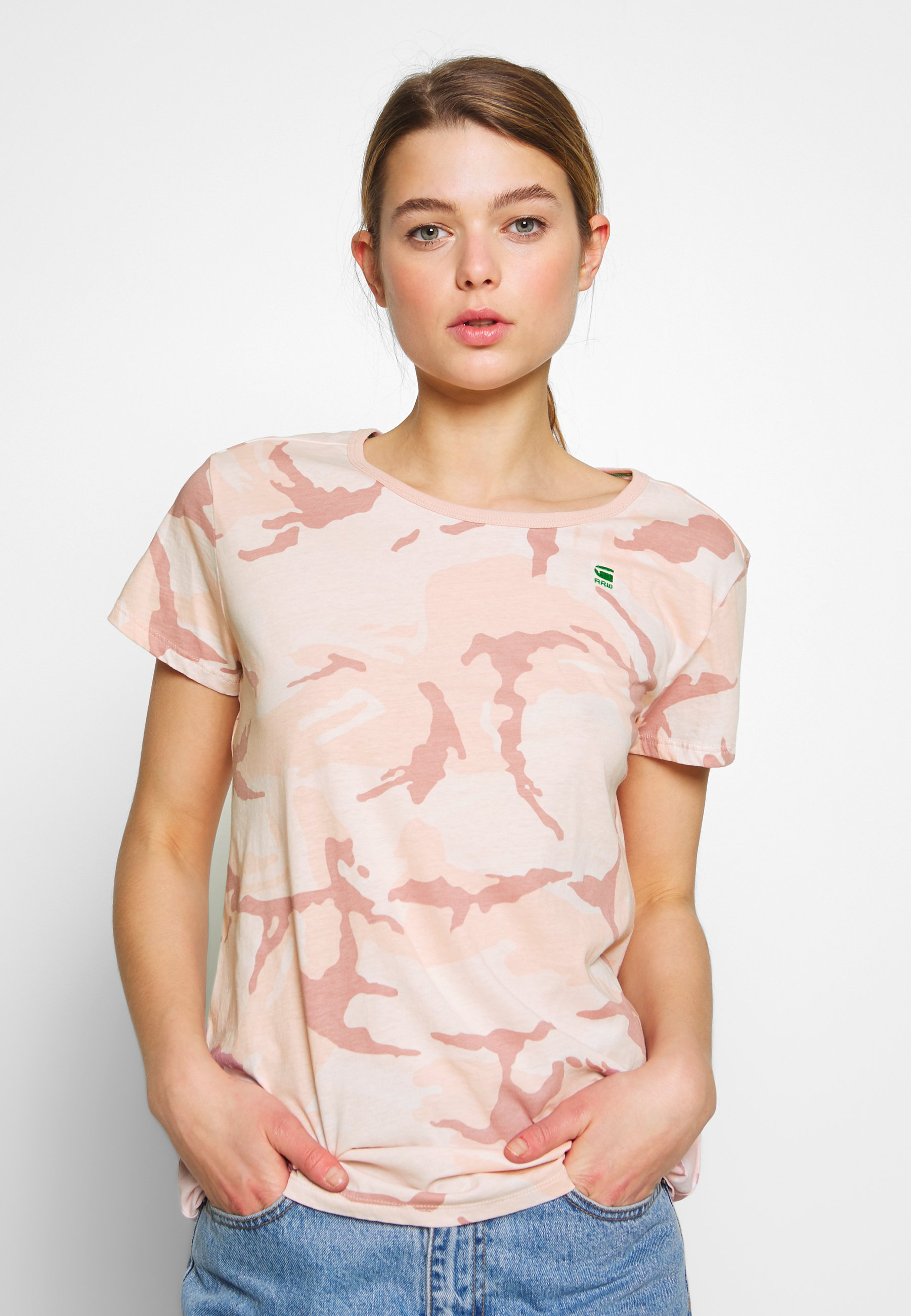 G-Star GYRE - T-shirts med print - bleach pink/pink orchid