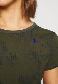 G-Star - GYRE - Print T-shirt - algae/ combat - 3