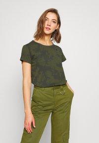 G-Star - GYRE - Print T-shirt - algae/ combat - 0