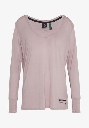 GYRE UTILITY V-NECK LONG SLEEVE T-SHIRT - Long sleeved top - berry mist