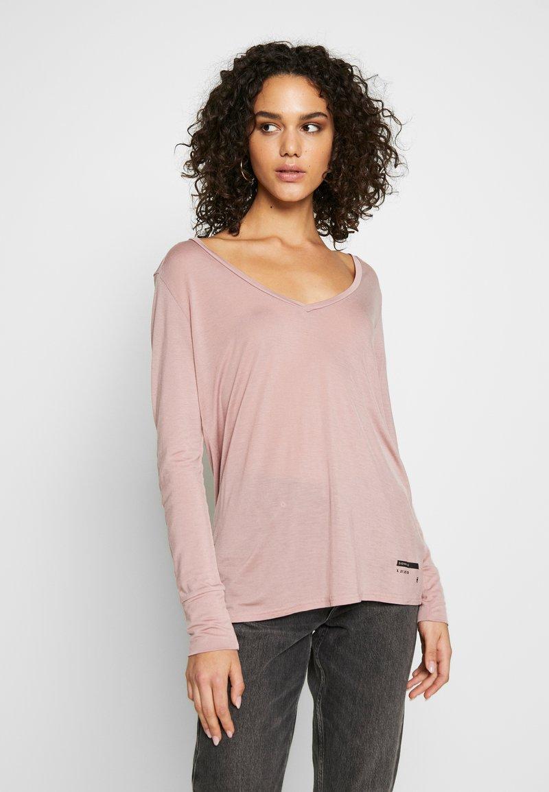 G-Star - GYRE UTILITY V-NECK LONG SLEEVE T-SHIRT - T-shirt à manches longues - berry mist