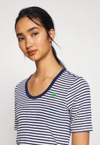 G-Star - SILBER SLIM - T-shirt print - milk/imperial blue stripe - 3