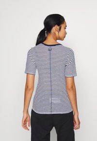 G-Star - SILBER SLIM - T-shirt print - milk/imperial blue stripe - 2