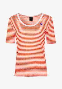 G-Star - SILBER SLIM - T-shirts med print - milk/acid orange - 3