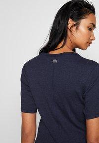G-Star - SILBER SLIM - Print T-shirt - servant blue - 5