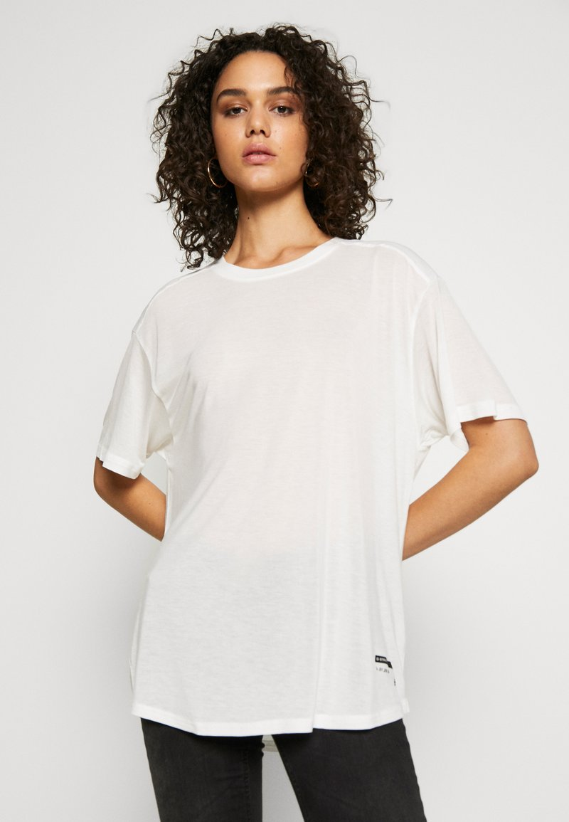 G-Star - WEIR UTILITY LOOSE R-NECK - Camiseta estampada - milk