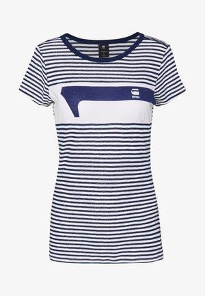LITMIC STRIPE GR ONE SLIM - Print T-shirt - milk/imperial blue stripe