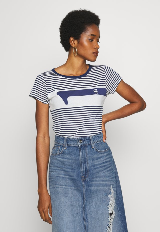 LITMIC STRIPE GR ONE SLIM - T-shirts med print - milk/imperial blue stripe