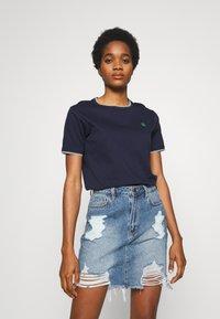 G-Star - GYRE RINGER  - T-shirt print - sartho blue - 0