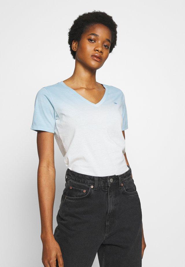 MYSID V NECK - T-shirt print - siali blue