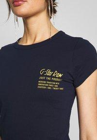 G-Star - SMALL LOGO SLIM  - T-shirt basic - sartho blue - 5