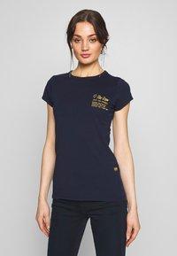 G-Star - SMALL LOGO SLIM  - T-shirt basic - sartho blue - 0