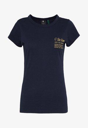 SMALL LOGO SLIM  - T-shirt - bas - sartho blue
