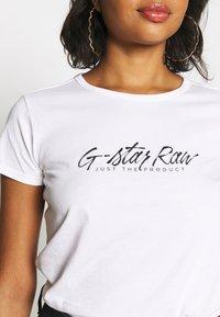 G-Star - BIG LOGO STRAIGHT  - Print T-shirt - white - 3