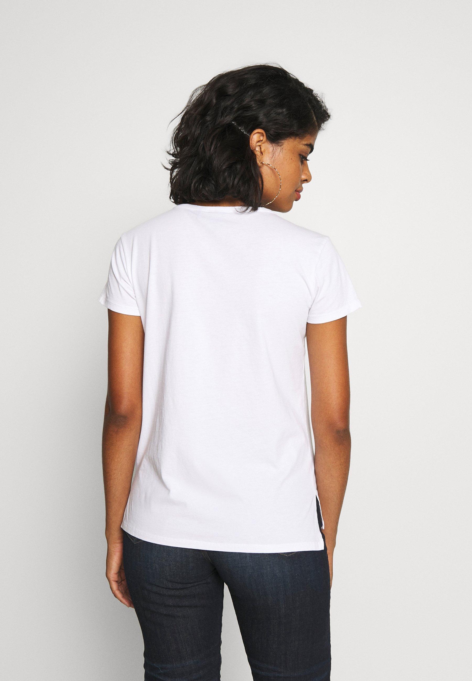 G-Star BIG LOGO STRAIGHT  - T-shirts med print - white
