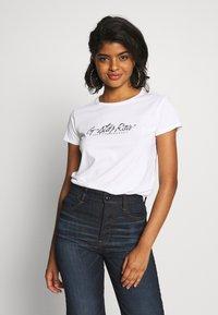 G-Star - BIG LOGO STRAIGHT  - Print T-shirt - white - 0