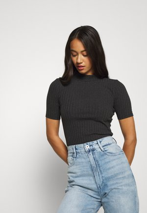 T-shirt basic - dark black heather