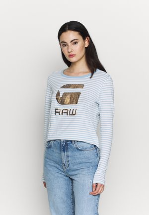 GRAPHIC 21 - Long sleeved top - siali blue/white