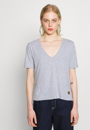 CORE OVVELA - Camiseta estampada - grey heather