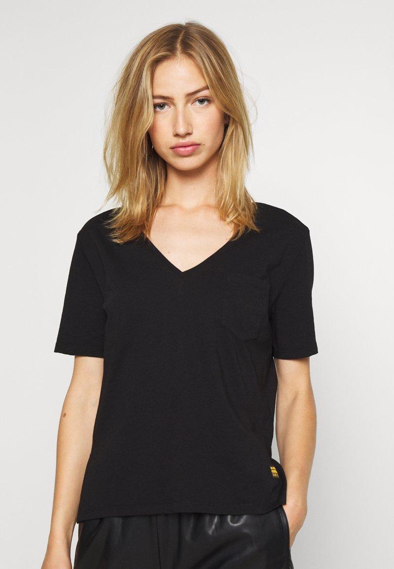 G-Star - CORE OVVELA - Print T-shirt - black
