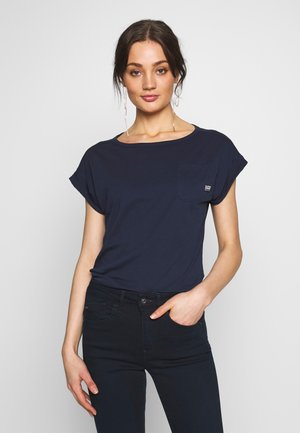NOXER BOAT NECK T-SHIRT - T-shirt basic - sartho blue