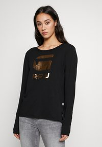 G-Star - GRAPHIC - Long sleeved top - black - 0