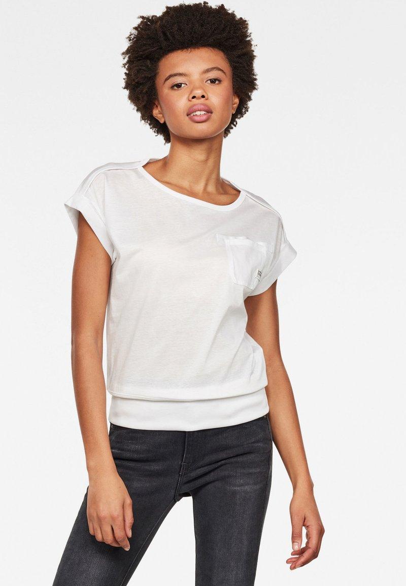 G-Star - NOXER BOAT - Print T-shirt - white