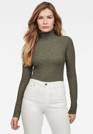 LECITE OPTIC SLIM TURTLE - Jumper - green