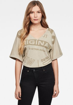 JOOSA CIRCLE ORIG - Print T-shirt - beige