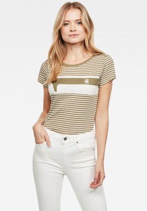 LITMIC YD STRIPE GR ONE - Print T-shirt - smoke olive/milk stripe