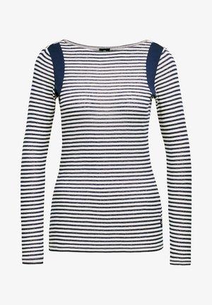 ZOVAS YD STRIPE SLIM BOAT - Long sleeved top - milk/imperial blue