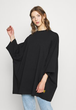 GLASY XXL LOOSE WMN - T-shirt basique - dk black