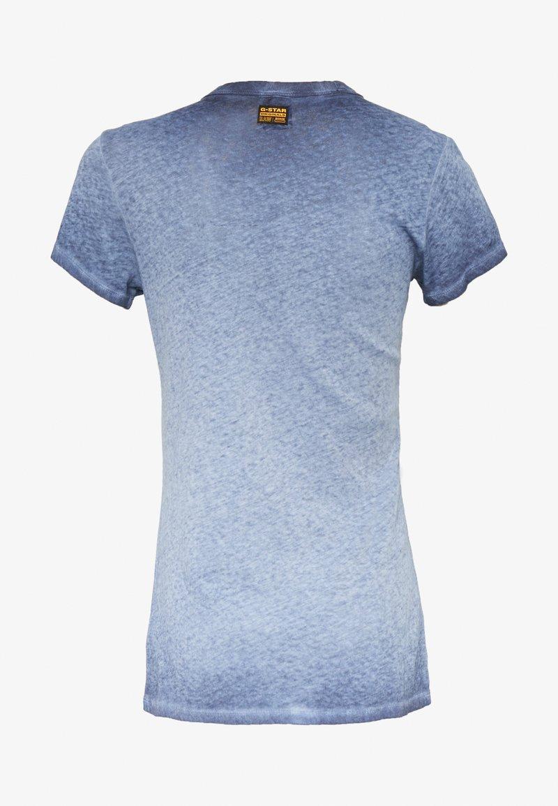 G-Star EYBER SLIM - T-shirts med print - sartho blue