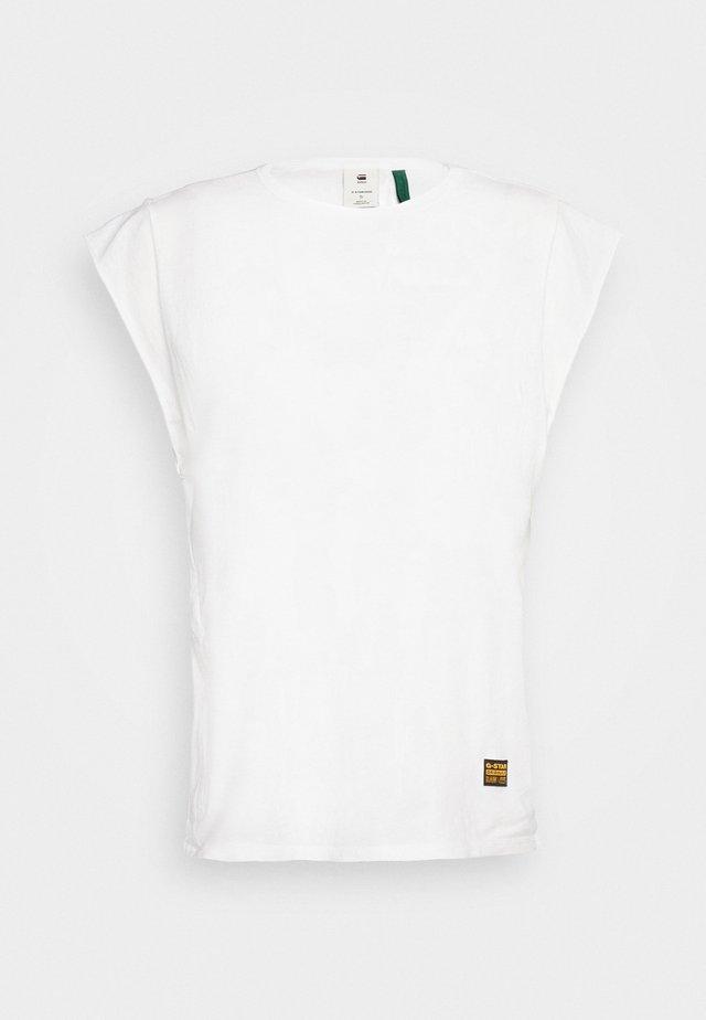 GSRAW GYRE KNOT CAP - T-shirt print - white
