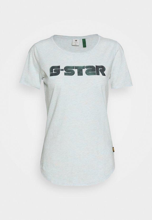 MYSID OPTIC  - Print T-shirt - light blue/orange