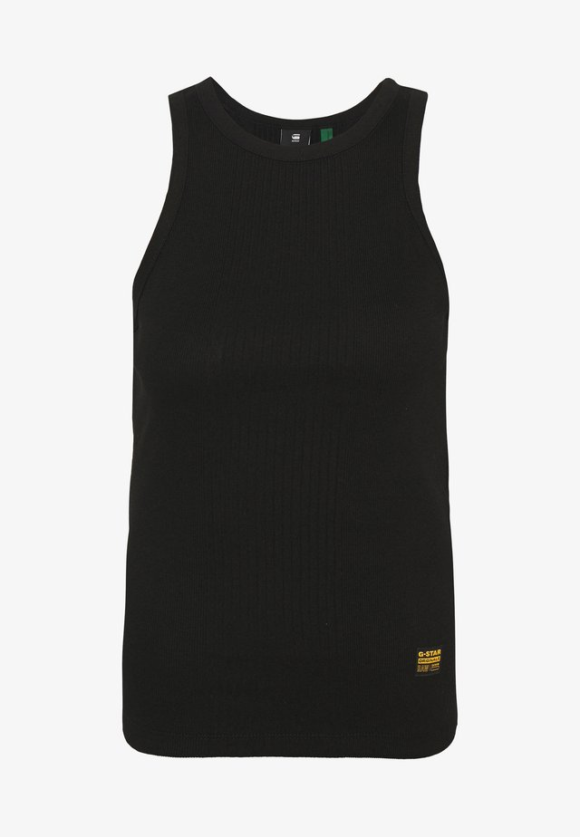 RIB SLIM  - Top - dark black