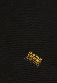 G-Star - RIB SLIM  - Topper - dark black - 2