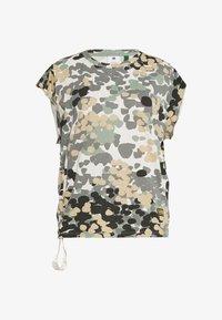 G-Star - GYRE AO KNOT R T WMN CAP SL - Print T-shirt - khaki/olive - 4