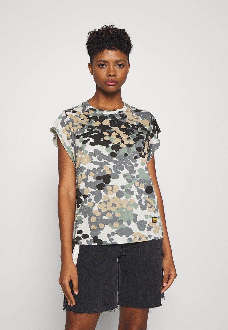 G-Star - GYRE AO KNOT R T WMN CAP SL - Print T-shirt - khaki/olive
