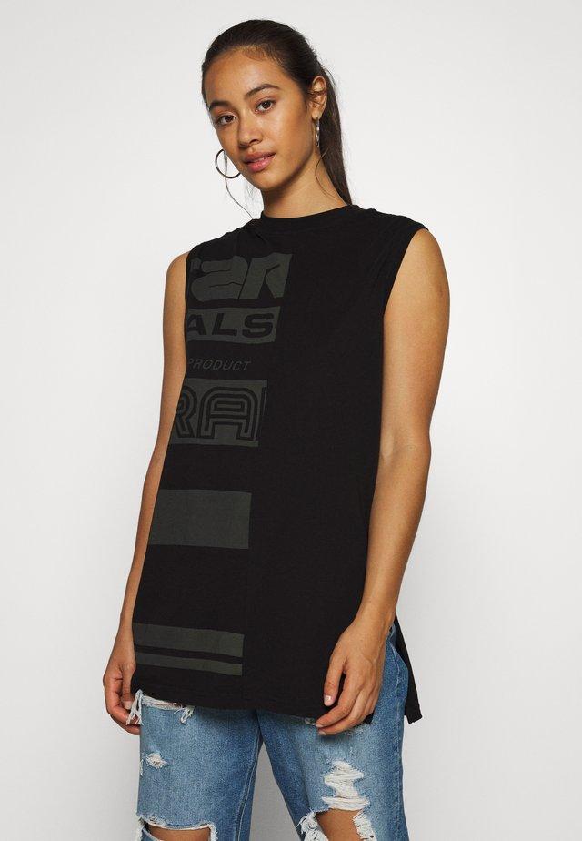 HALF ORIGINALS GR LOOSE R T WMN SLS - T-shirt z nadrukiem - black